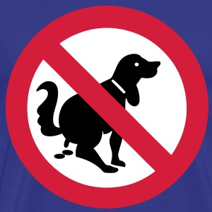 NO Dog Poop Sign - Men's Premium T-Shirt