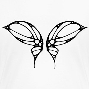 schmetterling, flügel, engel, elfe, fairy, tattoo - Frauen Premium T-Shirt