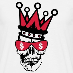 tete mort couronne crown skull3 Tee shirts