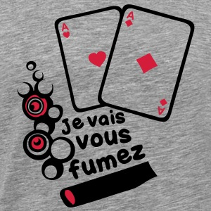 carte poker as cigare fumer2 Tee shirts - T-shirt Premium Homme