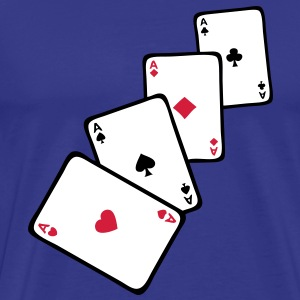 carte poker carre as1 Tee shirts - T-shirt Premium Homme