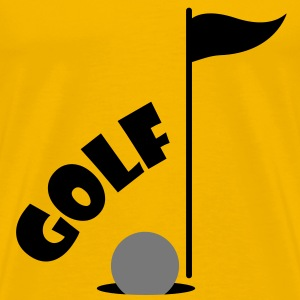 Golf Mænds T-Shirt - Herre premium T-shirt
