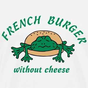 Froschburger French Burger Fastfood Frog ohne Käse without cheese Frankreich France T-Shirts - Männer Premium T-Shirt