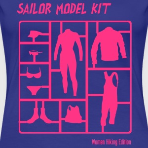 Sailor Model Kit - Womens HIking Edition T-Shirts - Frauen Premium T-Shirt