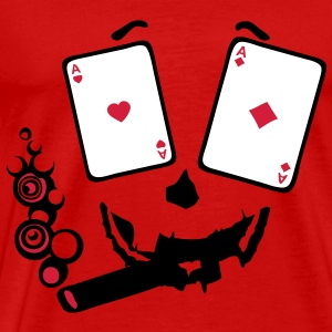 carte poker as paire smiley3 cigare Tee shirts - T-shirt Premium Homme
