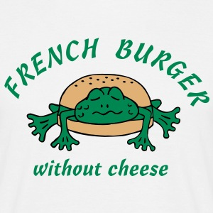 Froschburger French Burger Fastfood Frog ohne Käse without cheese Frankreich France T-shirt - Maglietta da uomo
