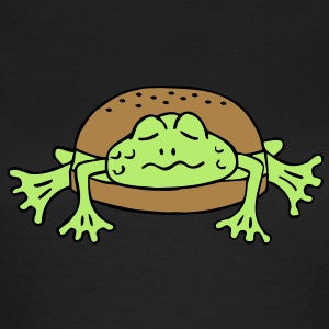 Froschburger French Burger Fastfood Frog ohne Käse without cheese Frankreich France T-shirts - Vrouwen T-shirt