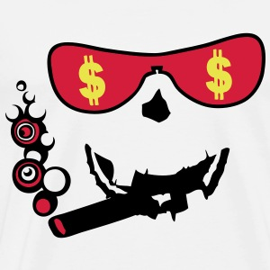 lunette glass dollars cigare smiley1 Tee shirts - T-shirt Premium Homme