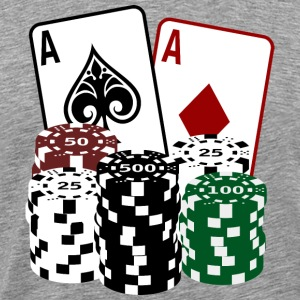 Poker Cards and Chips T-Shirts - Männer Premium T-Shirt