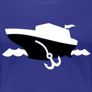 a cruise boat and anchor on the ocean waves T-Shirts - Women's Premium T-Shirt