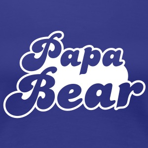 PAPA bear cute family group   T-Shirts - Women's Premium T-Shirt