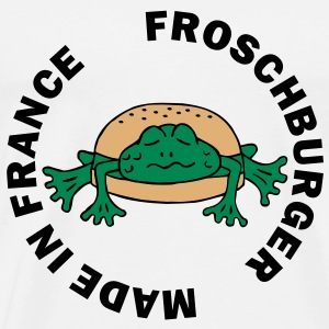 Froschburger French Burger Fastfood Frog ohne Käse without cheese Frankreich France Camisetas - Camiseta premium hombre