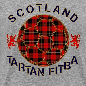 tartan football scotland red T-Shirts - Men's Premium T-Shirt