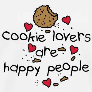 cookies lovers are happy people T-shirts - Herre premium T-shirt