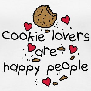 cookies lovers are happy people T-Shirts - Frauen Premium T-Shirt