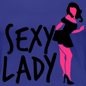 stripper sexy lady in pink and black T-Shirts - Women's Premium T-Shirt