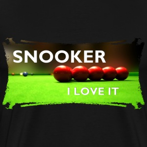 SNOOKER - I LOVE IT | Männershirt XXXXL - Männer Premium T-Shirt