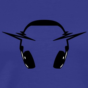 headphone_music_pulse T-shirts - Herre premium T-shirt