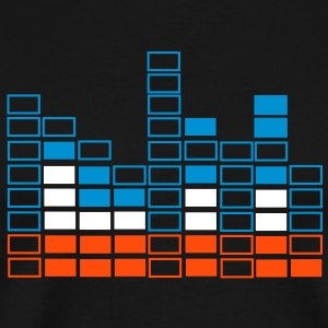 Musicbeat - Let the bass kick Bassline musikafspiller pro equalizer - Herre premium T-shirt