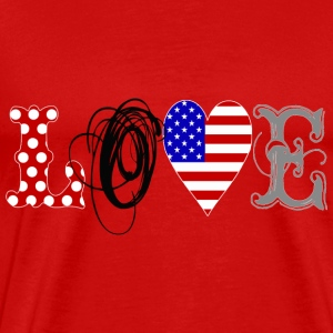 Love USA Black - Männer Premium T-Shirt