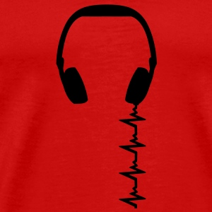 headphone_frequency T-shirts - Herre premium T-shirt