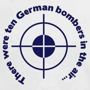 There were ten German bombers in the air... - Frauen Kontrast-T-Shirt
