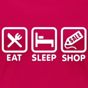 Eat Sleep Shop  Tee shirts - T-shirt Premium Femme