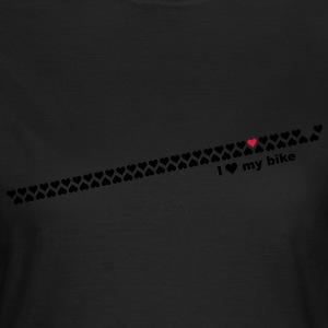 i love my bike T-shirts - Vrouwen T-shirt