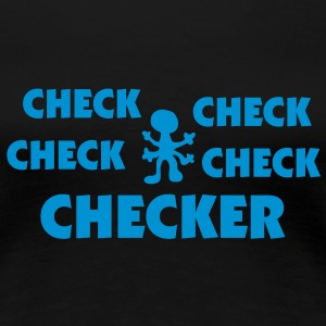checker_mono_75 T-Shirts - Women's Premium T-Shirt