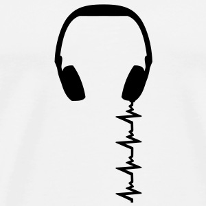 headphone_frequency T-shirt - Maglietta Premium da uomo
