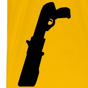 Pump-Action Shotgun in your belt - Men's Premium T-Shirt