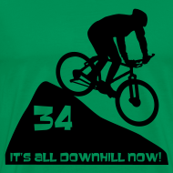 Design ~ It's all downhill now - birthday 34