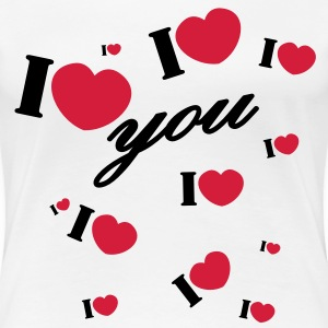 I love you san valentin valentine T-Shirts - Frauen Premium T-Shirt