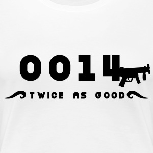 0014 twice as good a double agent T-Shirts - Women's Premium T-Shirt