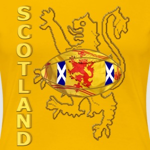 scotland saltire and lion rugby  T-Shirts - Women's Premium T-Shirt