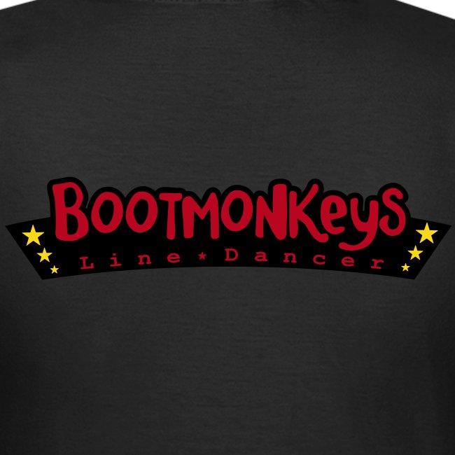 Bootmonkeys Club Girlie Shirt BRAUN Flock mit Affe