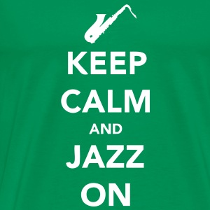 Keep Calm and Jazz On - Sax - Men's Premium T-Shirt