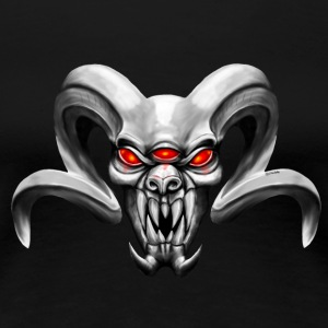 Demon with three eyes T-shirts - Dame premium T-shirt