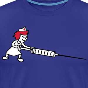 nurse_with_syringe T-shirts - Herre premium T-shirt