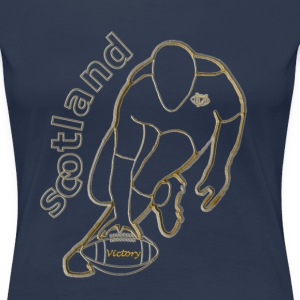 gold white scotland victory rugby T-Shirts - Women's Premium T-Shirt