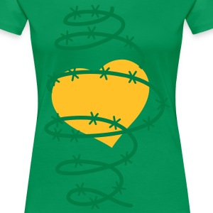 A HEART in barbed wire  T-Shirts - Women's Premium T-Shirt