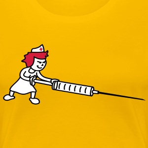 nurse_with_syringe T-Shirts - Frauen Premium T-Shirt