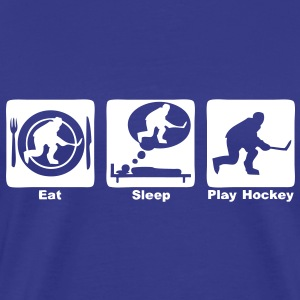 hockey eat sleep play Tee shirts - T-shirt Premium Homme