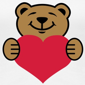Herz | Bärchen | Heart | Bear T-Shirts - Frauen Premium T-Shirt