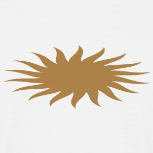 Sun, Sun symbol, vector, single color T-shirt - Maglietta da uomo