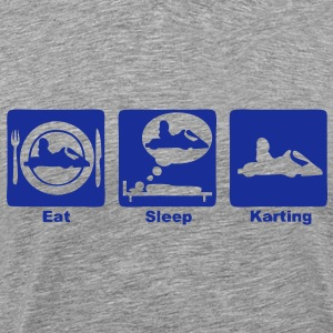 karting eat sleep play3 Tee shirts - T-shirt Premium Homme