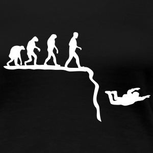 base jumping evolution T-Shirts - Frauen Premium T-Shirt
