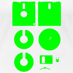 3 1⁄2-inch Floppy Disk Deconstructed for Ladies - Women's Premium T-Shirt