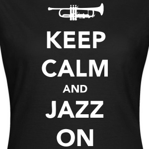 Keep Calm and Jazz On - Trumpet - Women's T-Shirt