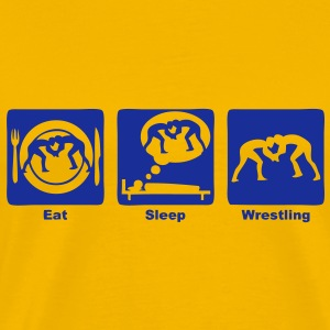wrestling lutte eat sleep play Tee shirts - T-shirt Premium Homme